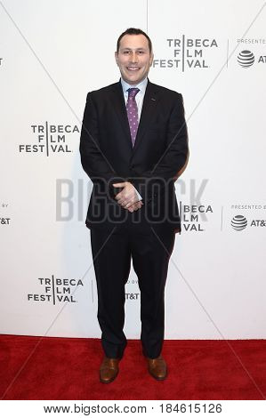 NEW YORK-APR 28: Mike Carlsen attends the 'Unbreakable Kimmy Schmidt' screening at BMCC at PAC during the 2017 TriBeCa Film Festival on April 28, 2017 in New York City.