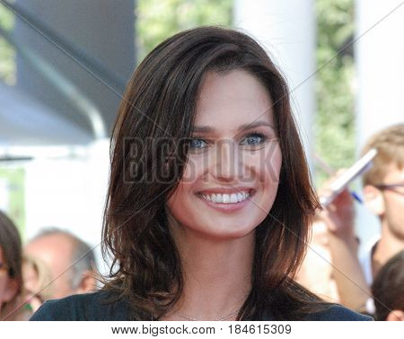 Giffoni Valle Piana Sa Italy - July 17 2012 : Anna Safroncik at Giffoni Film Festival 2012 - on July 17 2012 in Giffoni Valle Piana Italy
