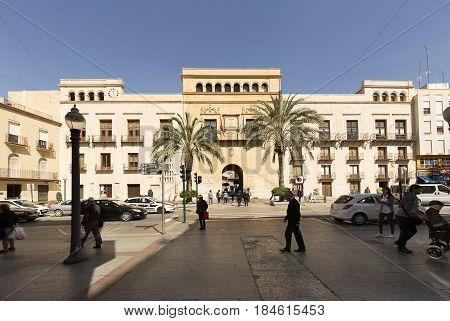 Plaza De Baix With The City Council Of Elche