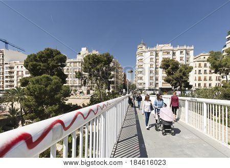 Petaonal Bridge In The City Of Elche.