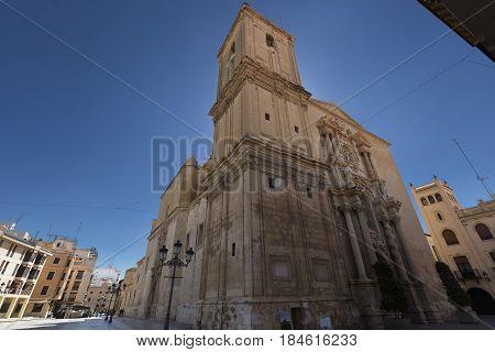 Basilica Of Santa Maria In The City Of Elche.