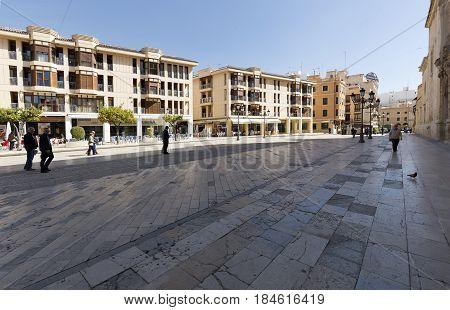 Eucharistic Congress Square In The City Of Elche.