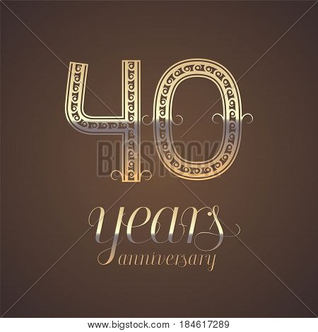 40 years anniversary vector photo free trial bigstock