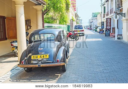 The Morris Minor Car In Galle