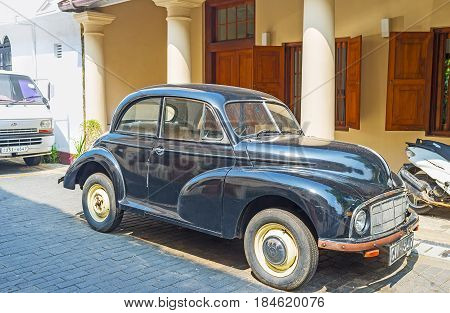 The Vintage Car In Galle Fort