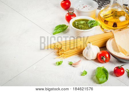 Ingredients For Pasta With Pesto
