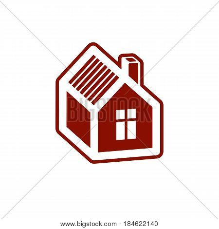Simple mansion vector icon isolated on white background abstract house. Country house conceptual sign best for use in graphic and web design.