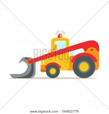 Yellow bulldozer, construction machinery equipment colorful cartoon vector Illustration isolated on a white background
