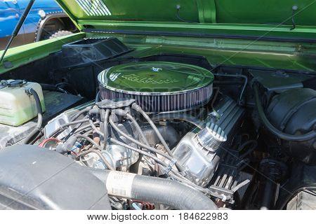 Ford Bronco Engine On Display