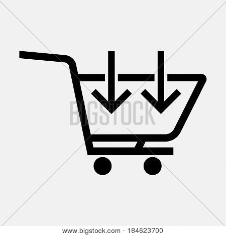 icon add to cart the next buy buy the product fully editable vector image