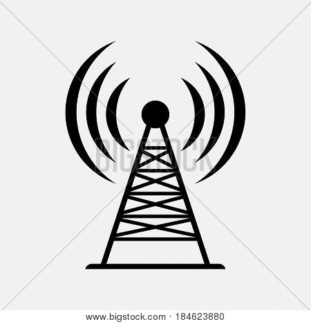icon antenna communication wireless data transmission fully editable vector image