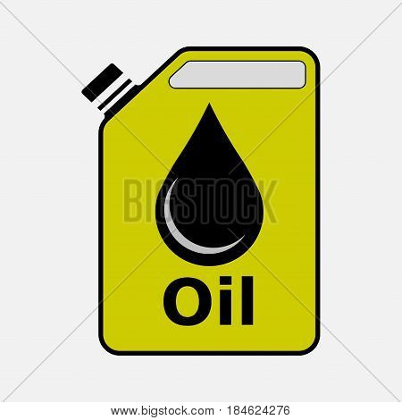 icon canister with oil gasoline petrol fully editable vector image
