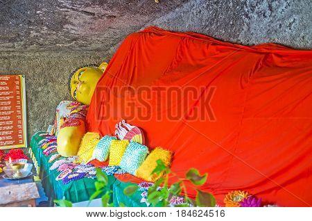 The Buddha In Sri Viwekaramaya Temple