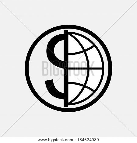 icon global currency money globe planet logo fully editable vector image