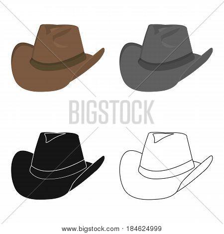 Cowboy hat icon cartoon. Singe western icon from the wild west cartoon.