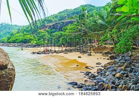 Tourists On Jungle Beach