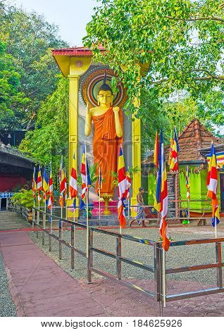 The Colorful Statue Of Lord Buddha