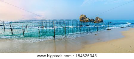 Panorama Of Ahangama Beach