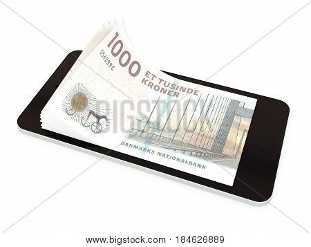 Mobile Payment With Smart Phone, Denmark Kroner