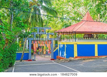 The Gate To The Buddhist Temple