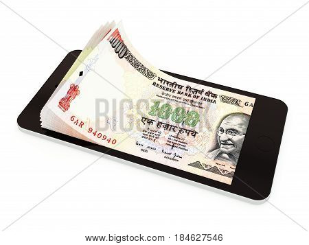 Mobile Payment With Smart Phone, Indian Rupee