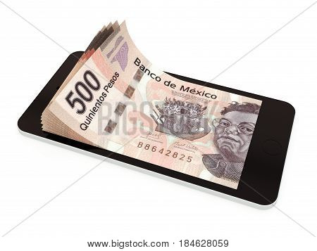 Mobile Payment With Smart Phone, Mexican Peso