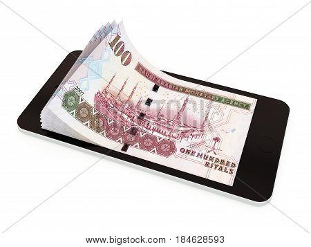 Mobile Payment With Smart Phone, Saudi Riyal