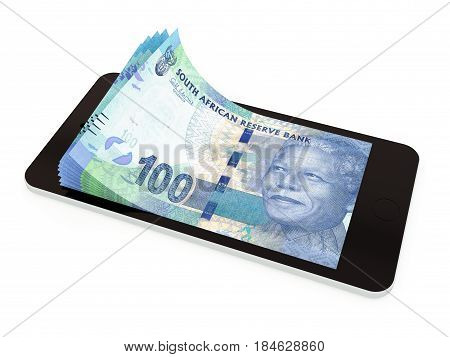 Mobile Payment With Smart Phone; South Africa Rand
