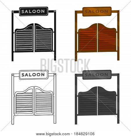 Saloon icon cartoon. Singe western icon from the wild west cartoon.
