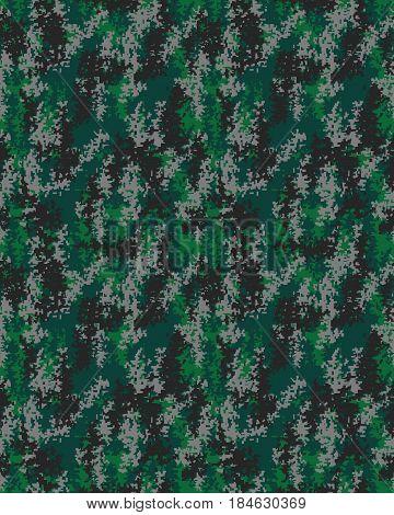 Digital fashionable camouflage pattern, military print .Seamless illustration