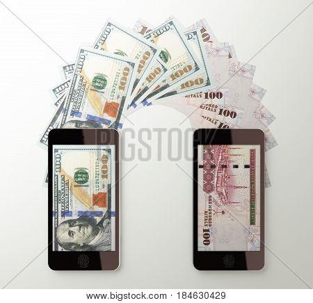International Mobile Money Transfer, Dollar To Saudi Riyal