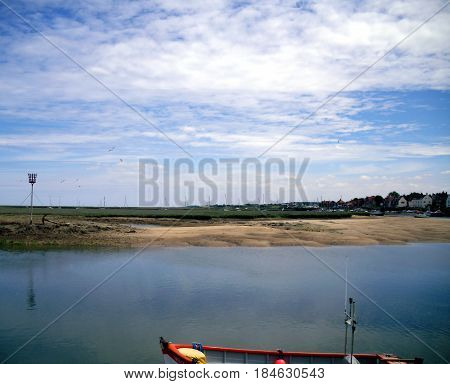 East Fleet Estuary at The Quay in Wells-next-the-Sea in Norfolk