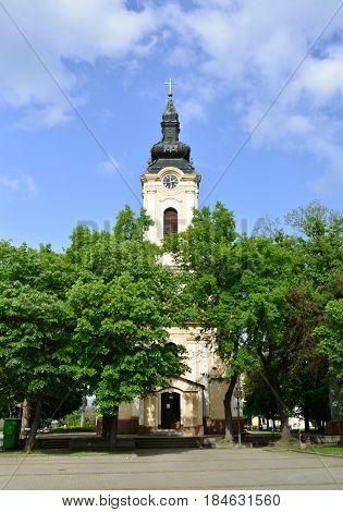 Kikinda town Serbia Orthodox church landmark architecture