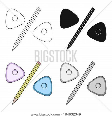 Pencil and sewing wash.Sewing or tailoring tools kit single icon in cartoon style vector symbol stock web illustration.