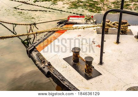 Fishing Boats On The Shore, Wooden Boats, Fishing And Tourist Industry