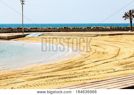 Little Bay and the deserted sandy beach