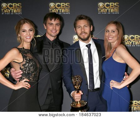 LOS ANGELES - APR 30:  Kelly Kruger, Darin Brooks, Scott Clifton, Nicole Lampson at the CBS Daytime Emmy After Party at the Pasadena Conferene Center on April 30, 2017 in Pasadena, CA