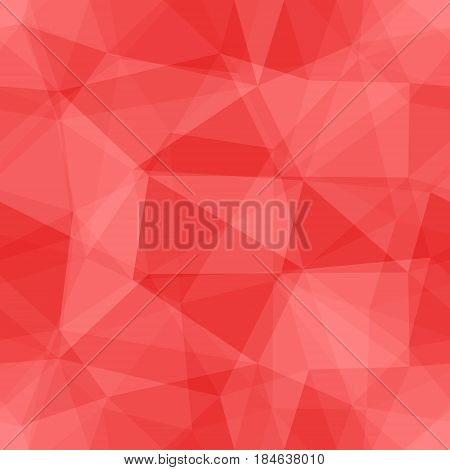 Abstract seamless light and dark red overlapping triangles pattern for background. Transparency geometric layout for printing magazine cover, advertise presentation. Effect of a kaleidoscope.