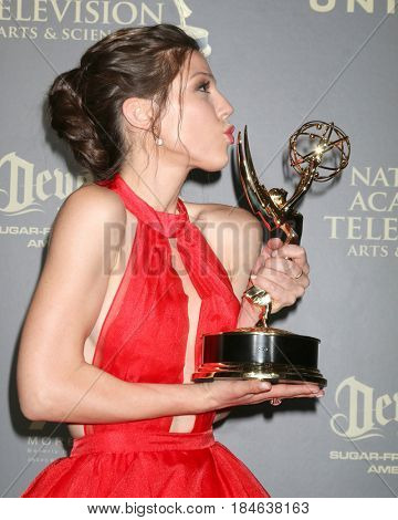 LOS ANGELES - APR 30:  Kate Mansi, Days of Our Lives in the 44th Daytime Emmy Awards Press Room at the Pasadena Civic Auditorium on April 30, 2017 in Pasadena, CA