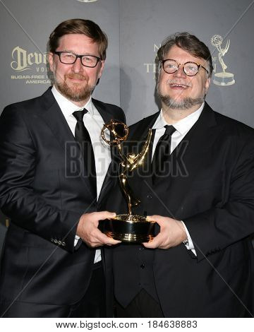 LOS ANGELES - APR 29:  Rodrigo Blaas, Guillermo del Toro at the 2017 Creative Daytime Emmy Awards at the Pasadena Civic Auditorium on April 29, 2017 in Pasadena, CA