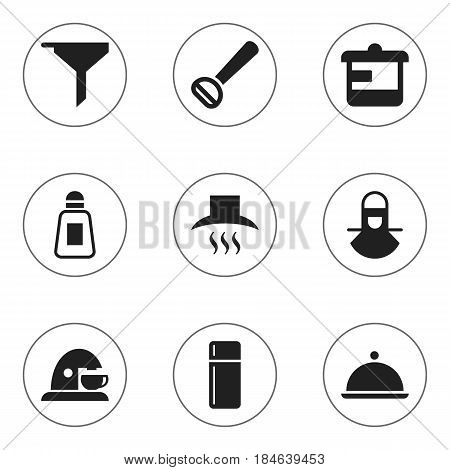 Set Of 9 Editable Cooking Icons. Includes Symbols Such As Filtering, Utensil, Salver And More. Can Be Used For Web, Mobile, UI And Infographic Design.