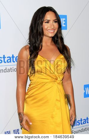, LOS ANGELES - APR 27:  Demi Lovato at the We Day California 2017 at The Forum on April 27, 2017 in Inglewood, CA