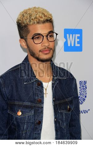 , LOS ANGELES - APR 27:  Jordan Fisher at the We Day California 2017 at The Forum on April 27, 2017 in Inglewood, CA