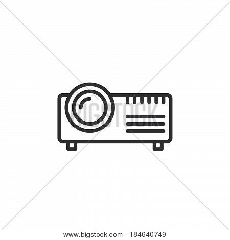Digital projector line icon outline vector sign linear pictogram isolated on white. Symbol logo illustration