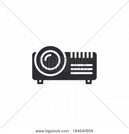 Digital projector icon vector filled flat sign solid pictogram isolated on white. Symbol logo illustration