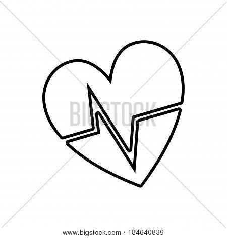 line nice heartbeat to cardiac rhythm, vector illustration design