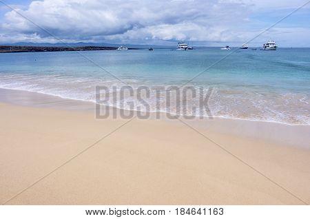 Beautiful Beach on Baltra, Galapagos Islands, Ecuador