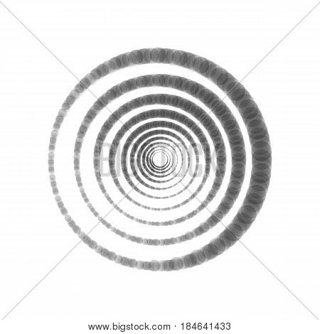 Abstract technology circles sign. Vector. Gray icon shaked at white background.