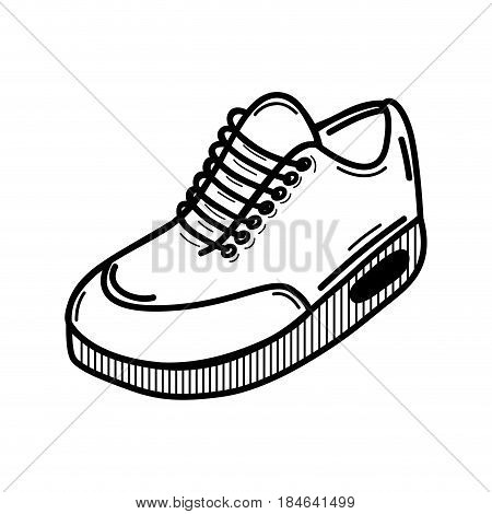 line comfortable sneakers fitness, vector illustration design