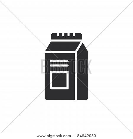Milk Or Juice Carton Box Pack icon vector filled flat sign solid pictogram isolated on white. Symbol logo illustration